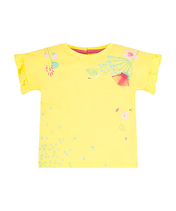 Mothercare Yellow Floral T-Shirt