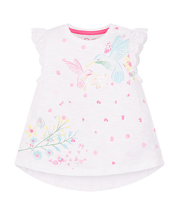 Mothercare White Hummingbird T-Shirt