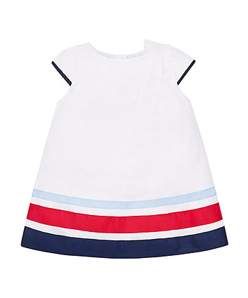 Mothercare White Striped Shift Dress