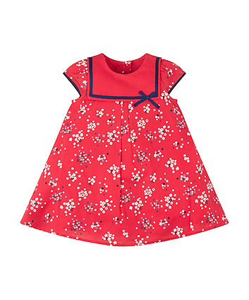 Mothercare Red Floral Sailor Dress