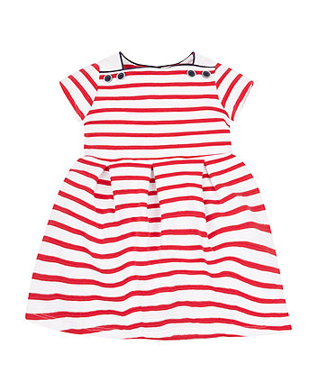 Mothercare Red Striped Dress