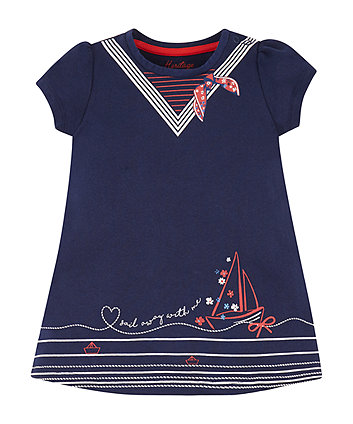 Mothercare Navy Jersey Dress