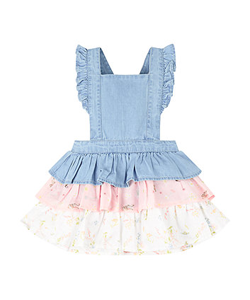 Mothercare Denim Frill Pinny Dress