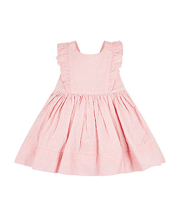 Mothercare Pink Frill Broderie Dress