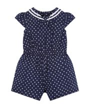 Mothercare Navy Floral Playsuit