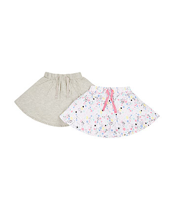 Mothercare Grey Unicorn Skirts - 2 Pack