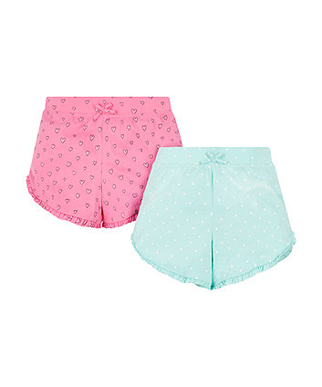 Hearts And Spots Shorts - 2 Pack