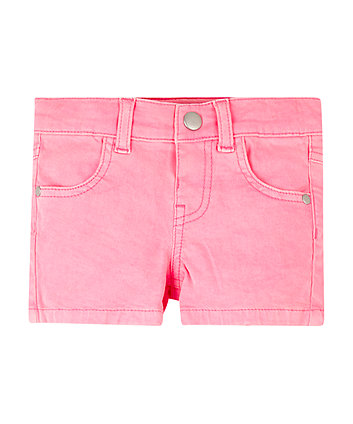 Mothercare Neon Pink Twill Shorts