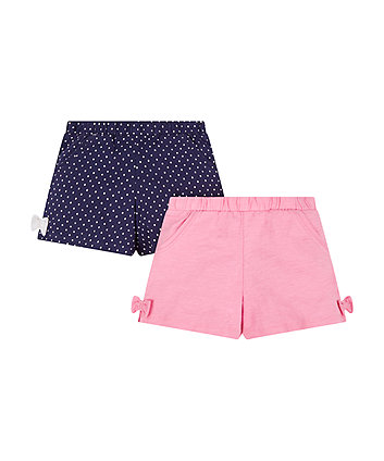 Mothercare Navy Spot And Pink Shorts