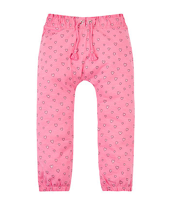 Pink Heart Hareem Trousers