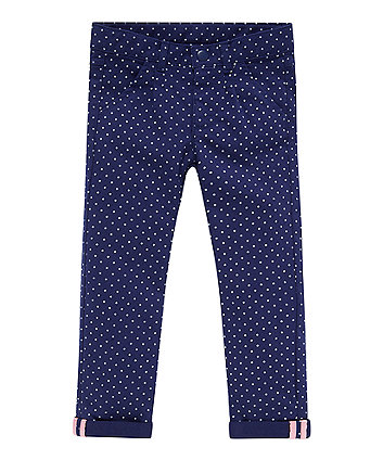 Mothercare Navy Spot Twill Trousers