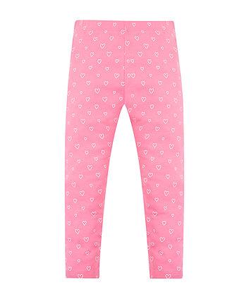 Mothercare Pink Heart Leggings