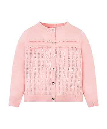 Mothercare Pink Frill Cardigan
