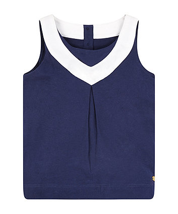 Mothercare Navy Sailor-Style Vest Top