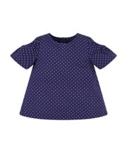 Mothercare Navy Spot Cold Shoulder Blouse