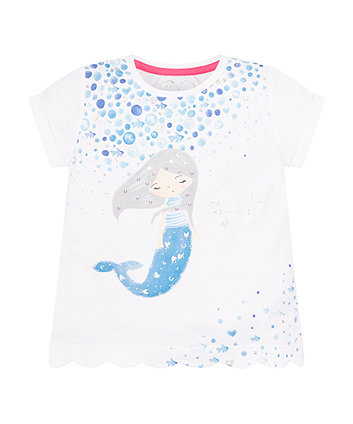 Mothercare Mermaid Scalloped T-Shirt