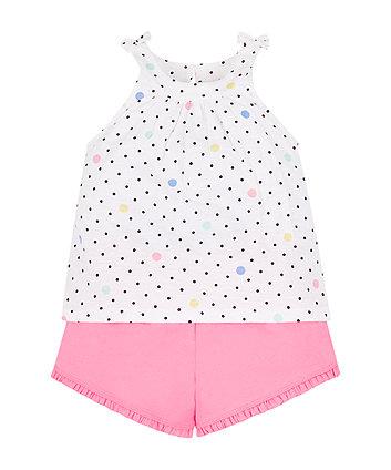 Spotty Vest And Shorts Set