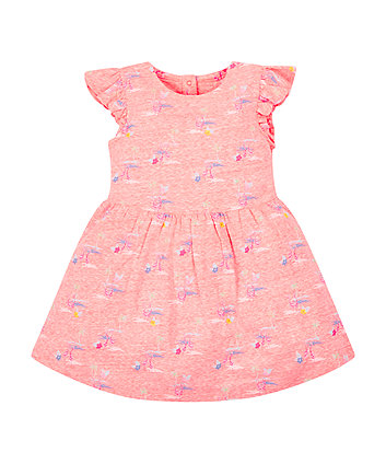 Mothercare Coral Flamingo Dress