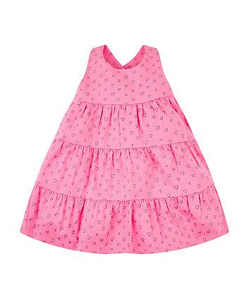Pink Heart Tiered Dress
