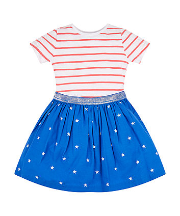 Mothercare Stars And Stripes Twofer Dress