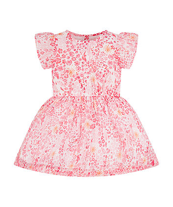 Mothercare Coral Seaside Chiffon Dress