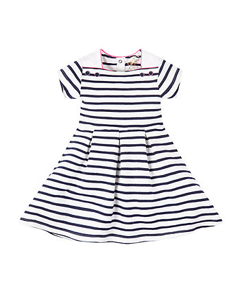 Mothercare Navy Striped Heavy Jersey Dress