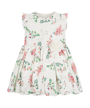 Mothercare Textured Floral Prom Dress