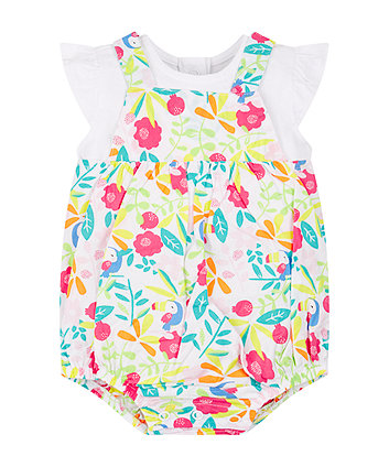 Mothercare Tropical Toucan Bibshort Set
