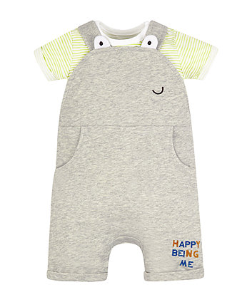 Mothercare Happy Bibshorts And Bodysuit Set