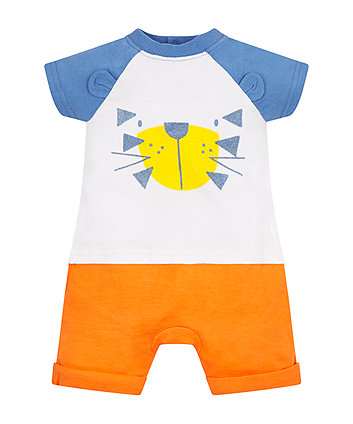 Mothercare Tiger Mock T-Shirt And Shorts Romper