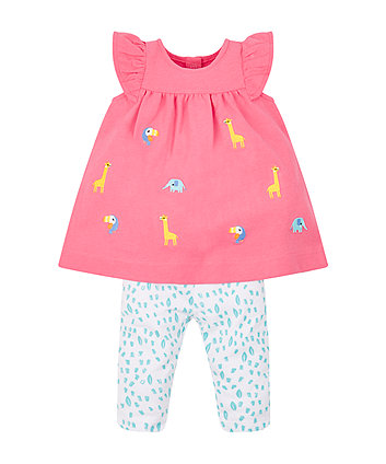 Mothercare Animal Dress And Leggings Set