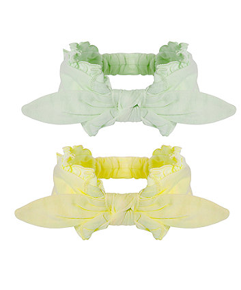 Mothercare Yellow And Mint Hairbands - 2 Pack