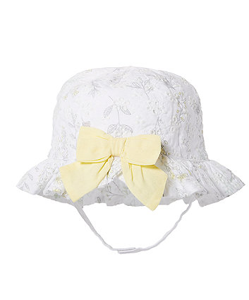 Mothercare White Broderie Sun Hat