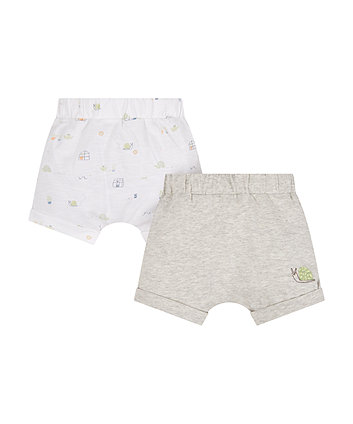 Mothercare Garden Snail Shorts - 2 Pack