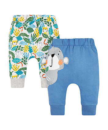Mothercare Monkey Jungle Leggings - 2 Pack