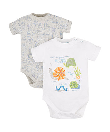 Mothercare What'S In The Garden Bodysuits - 2 Pack