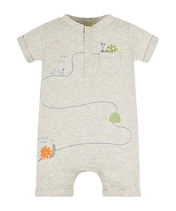 Mothercare Grey Snail Romper