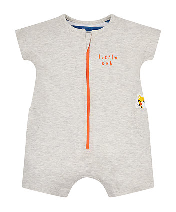 Mothercare Grey Tiger Romper