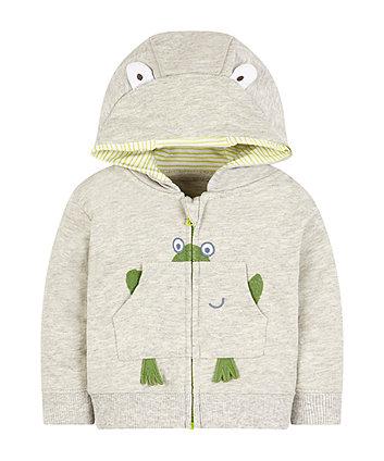 Mothercare Grey Frog Zip Through Hoodie