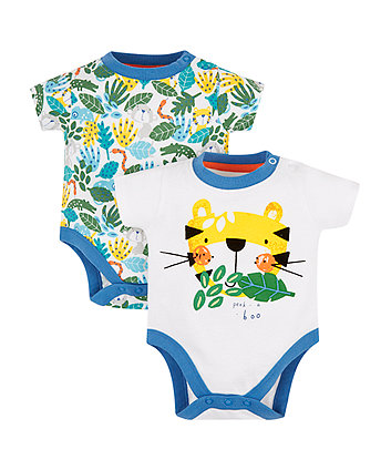 Mothercare Jungle Tiger Bodysuits - 2 Pack