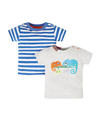 Mothercare Chameleon Stripe T-Shirts - 2 Pack