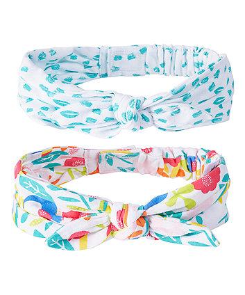 Bright Flower Hairbands - 2 Pack