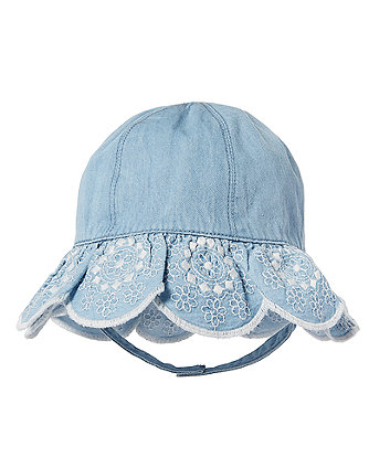 Chambray Embroidered Sun Hat
