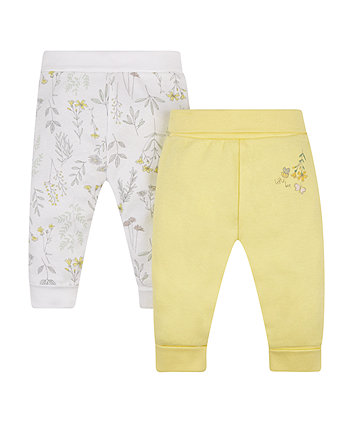 Mothercare Garden Bee Joggers - 2 Pack