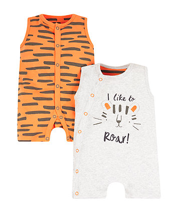 Little Tiger Rompers - 2 Pack