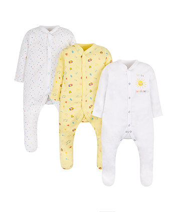 Beach Sleepsuits - 3 Pack