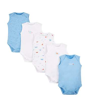 Seaside Bodysuits - 5 Pack