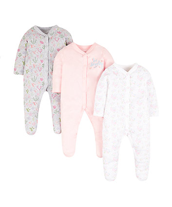 Mothercare Cactus Sleepsuits - 3 Pack