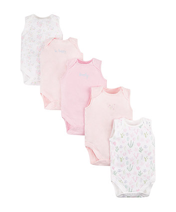 Mothercare Be Happy Bodysuits - 5 Pack