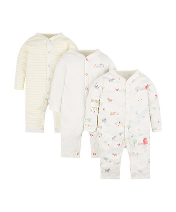 Animal Farm Sleepsuits - 3 Pack
